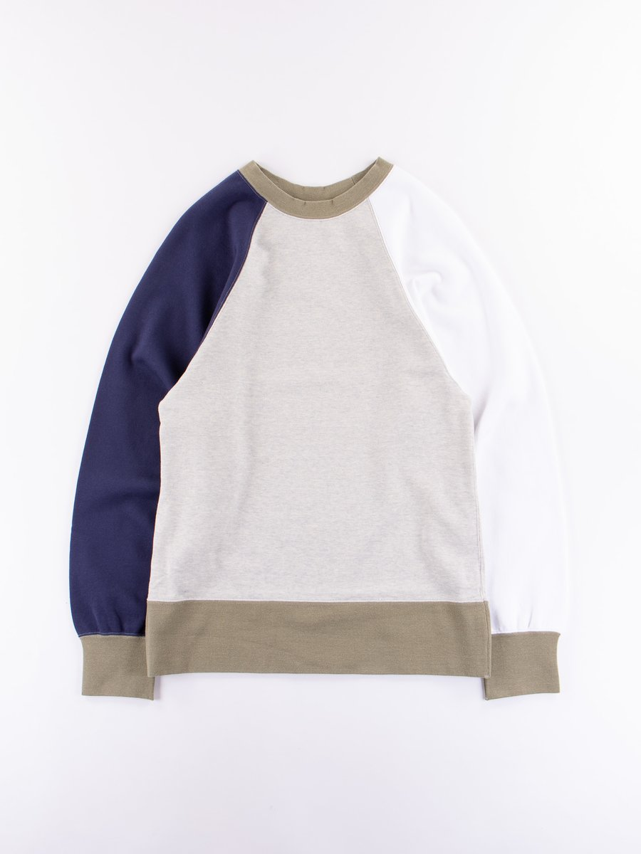 Multi Big Sleeve Crew Neck Sweatshirt