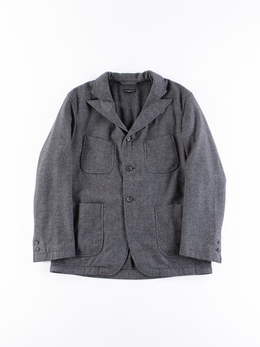 Grey Wool Glen Plaid Stripe NB Jacket
