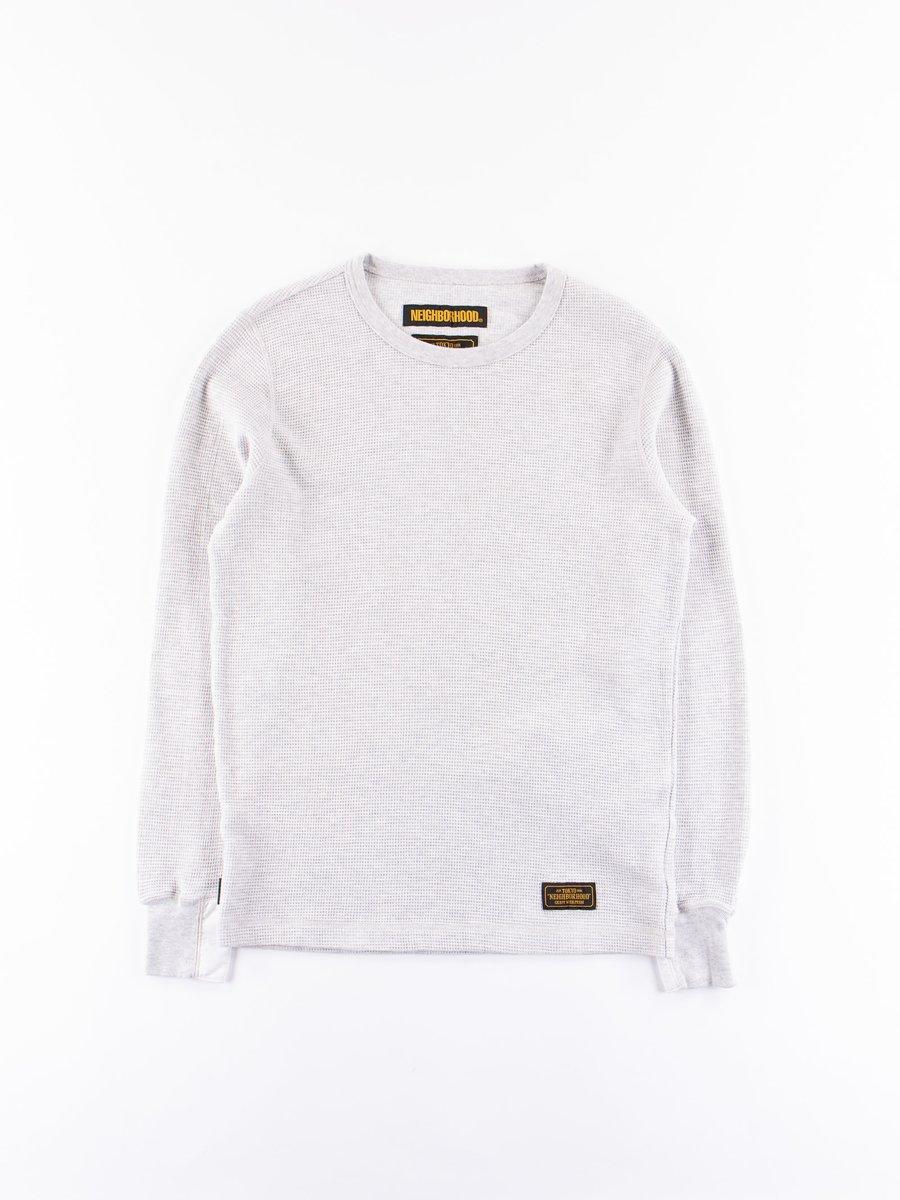 Grey B–Waffle C–Crew Thermal Shirt