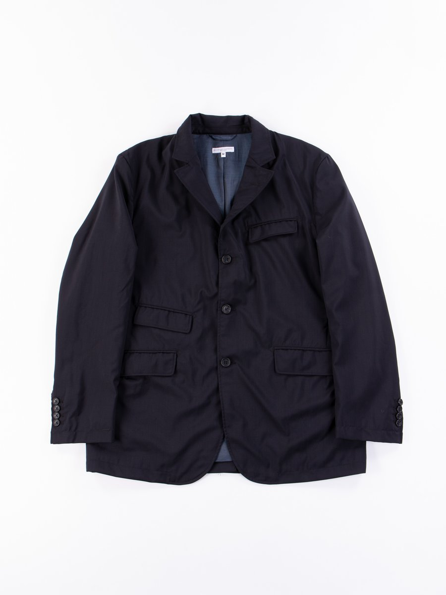 Dark Navy Tropical Wool Andover Jacket