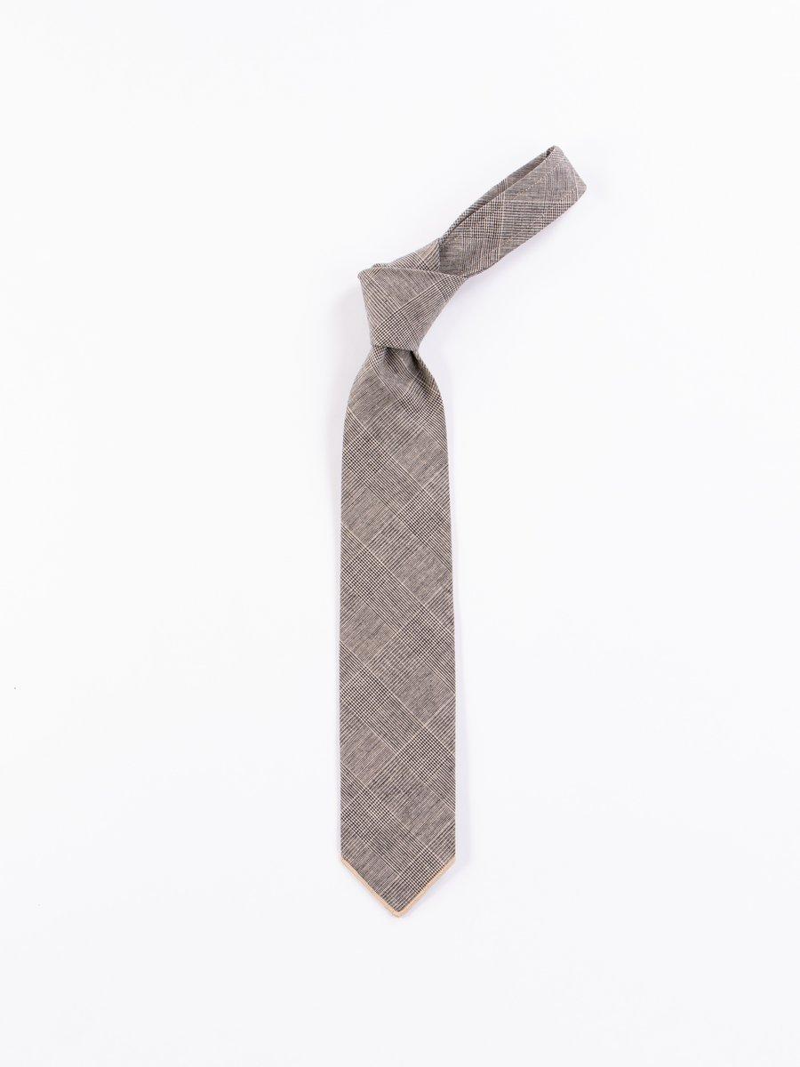 Grey CL Glen Plaid Neck Tie