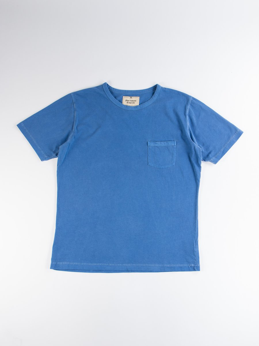 Washed Blue Military Pocket Tee