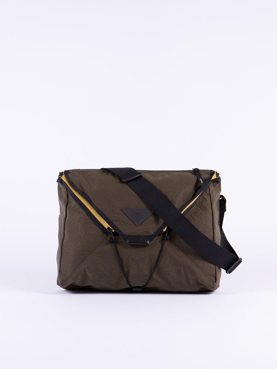 Khaki Delta Shoulder Bag