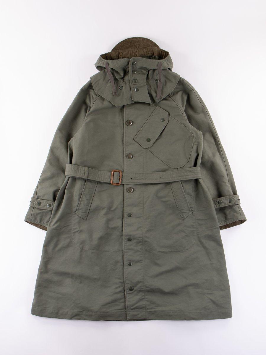 Olive Cotton Double Cloth Riding Coat