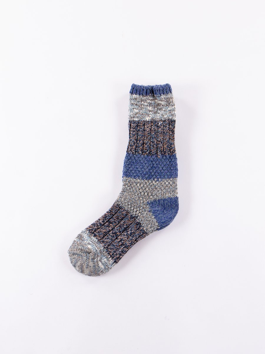 Blue/Rust 56 Yarns Kogin Grandrelle Socks