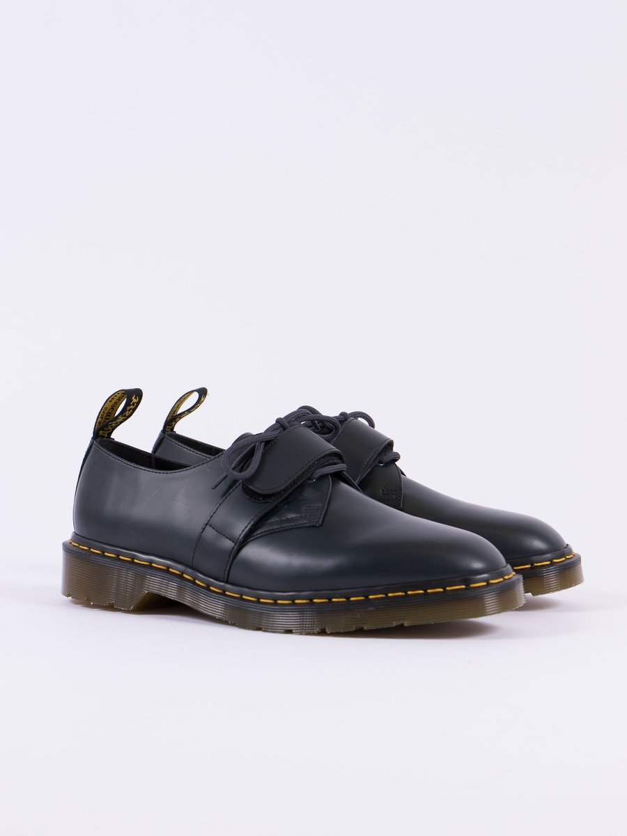 Navy Smooth Leather Velcro Shoe