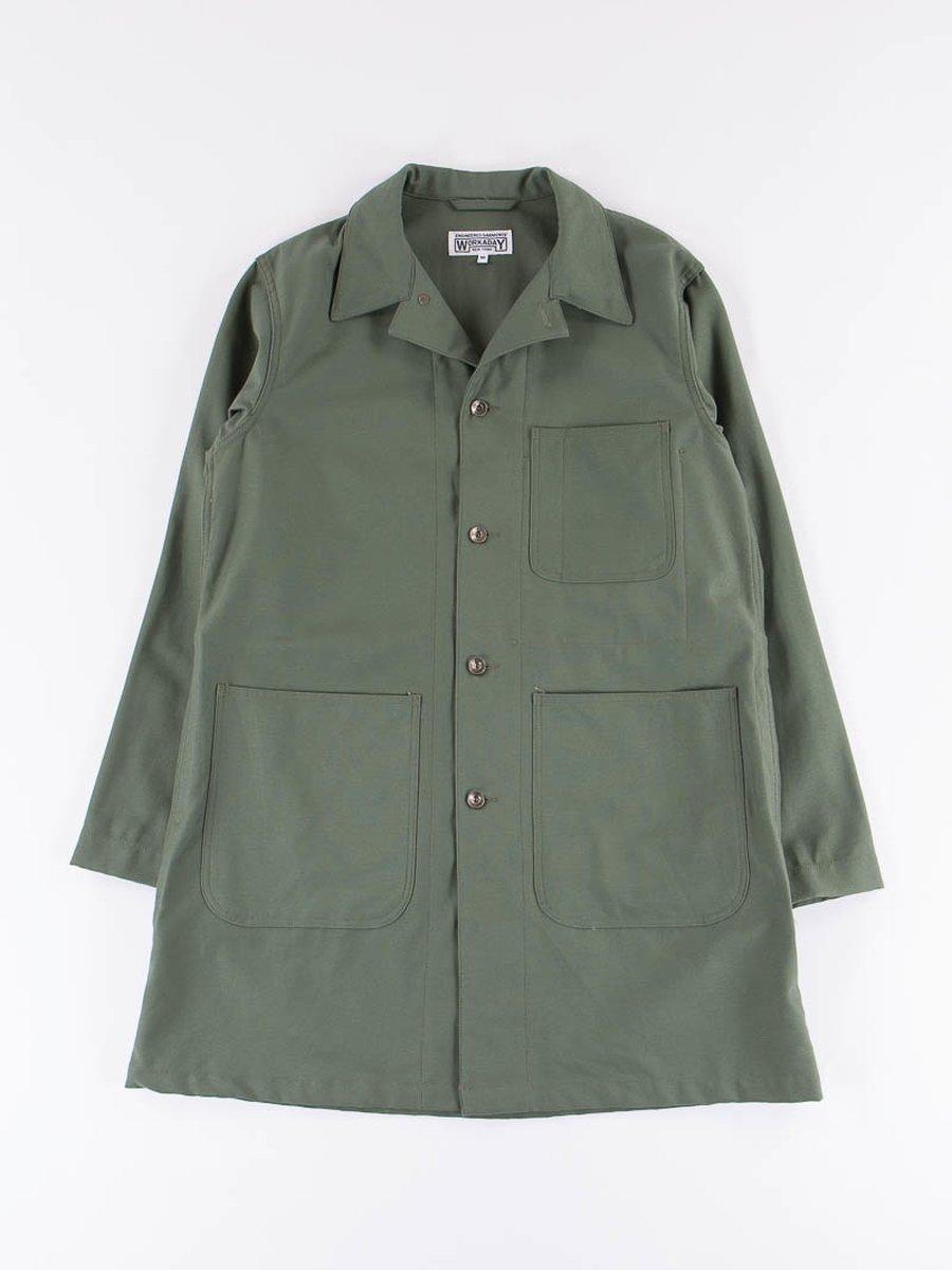 Olive Reversed Sateen Shop Coat