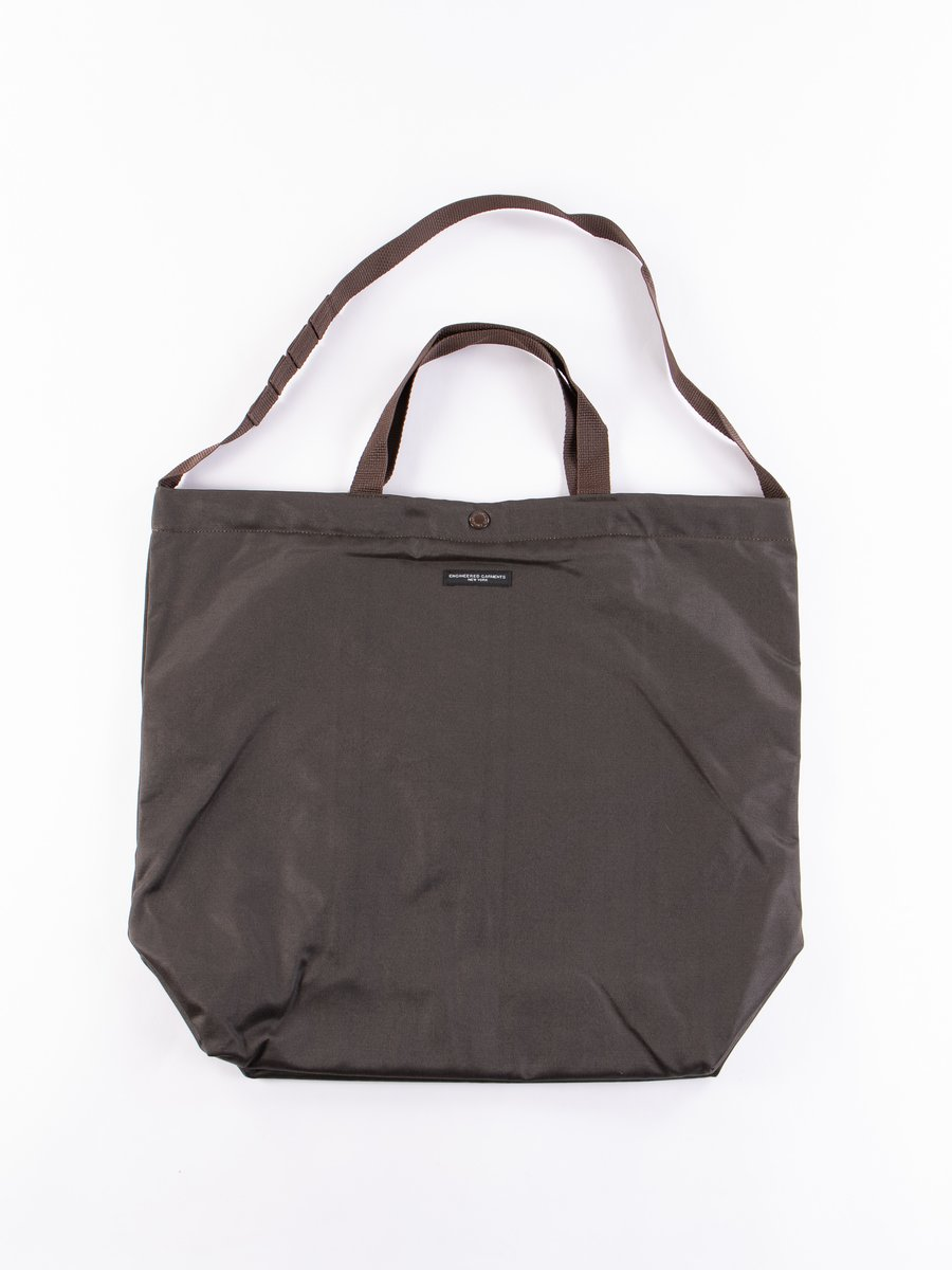 Dark Olive Coated Twill Carry All Tote