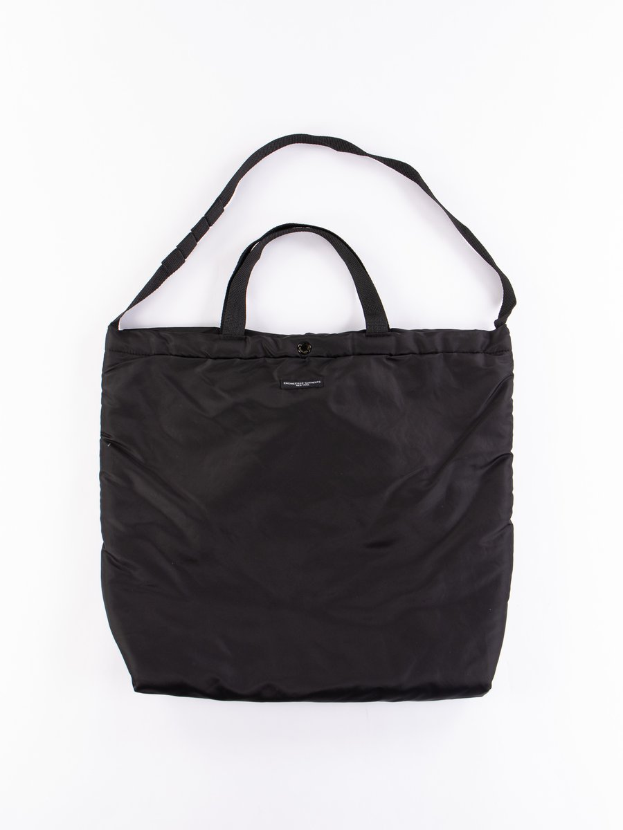 Black Flight Satin Nylon Carry All Tote