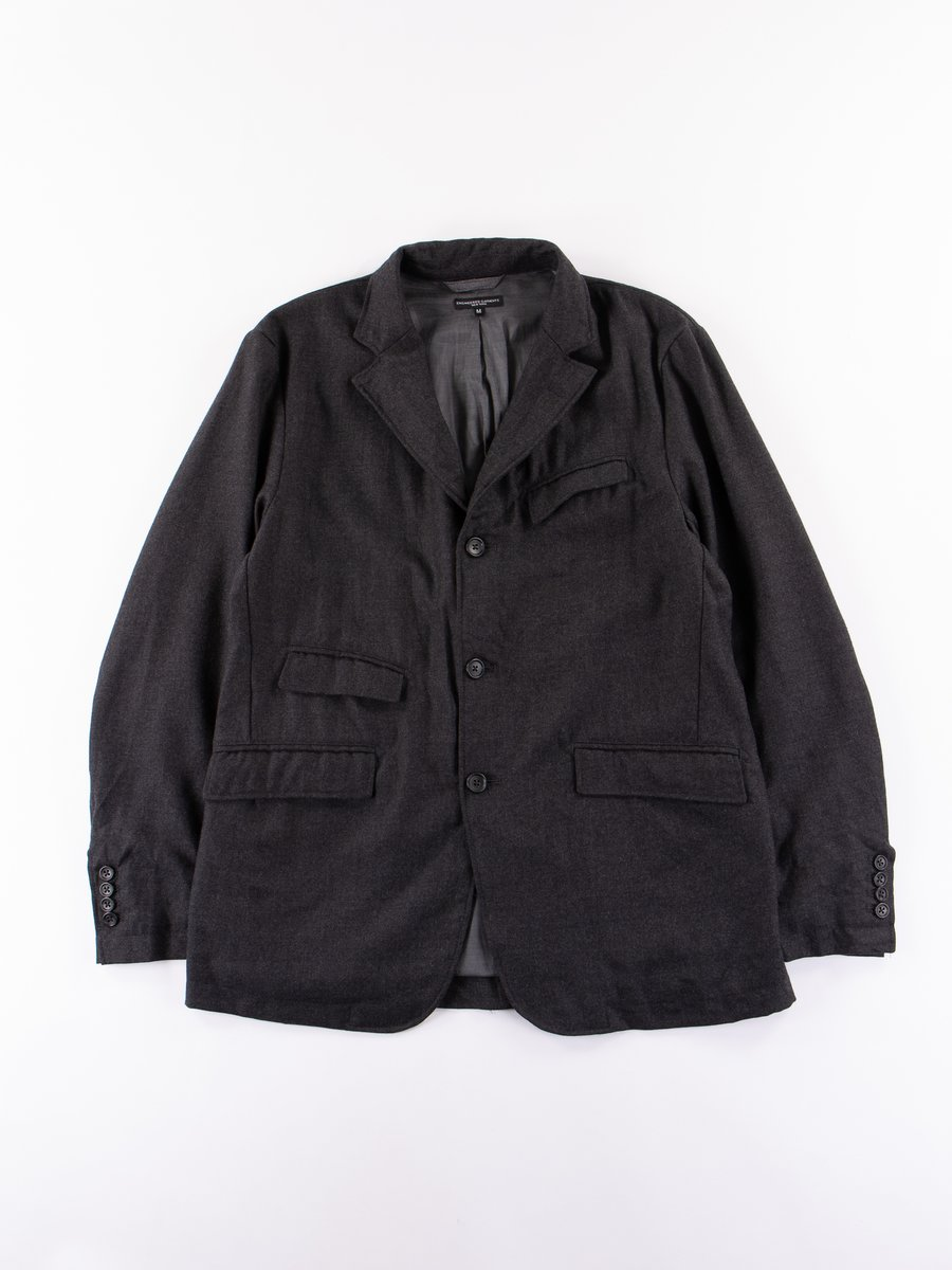 Charcoal Heather Worsted Wool Flannel Andover Jacket