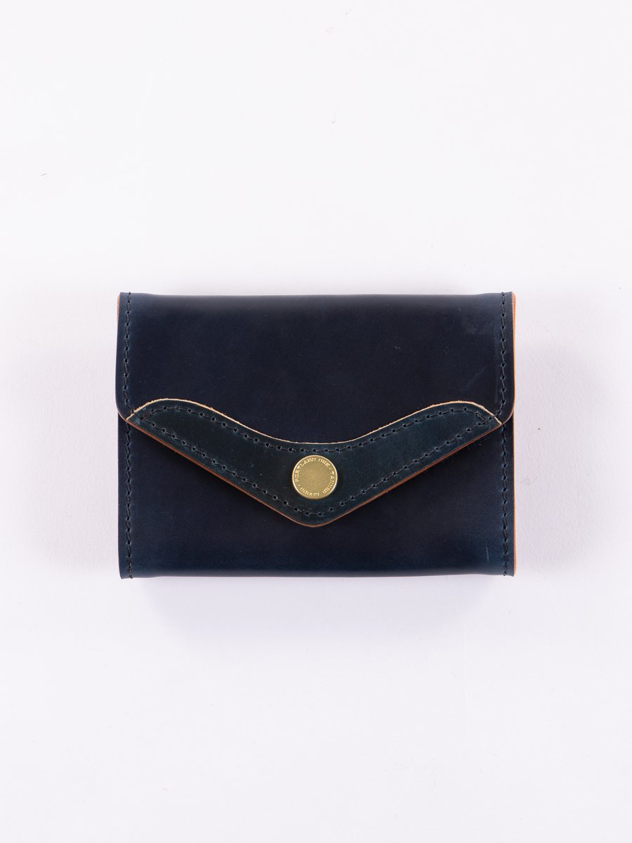 Nautical Blue Cordovan Scout Wallet
