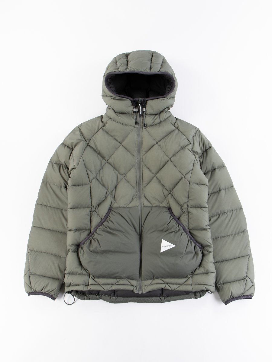 Grey Diamond Padded Jacket