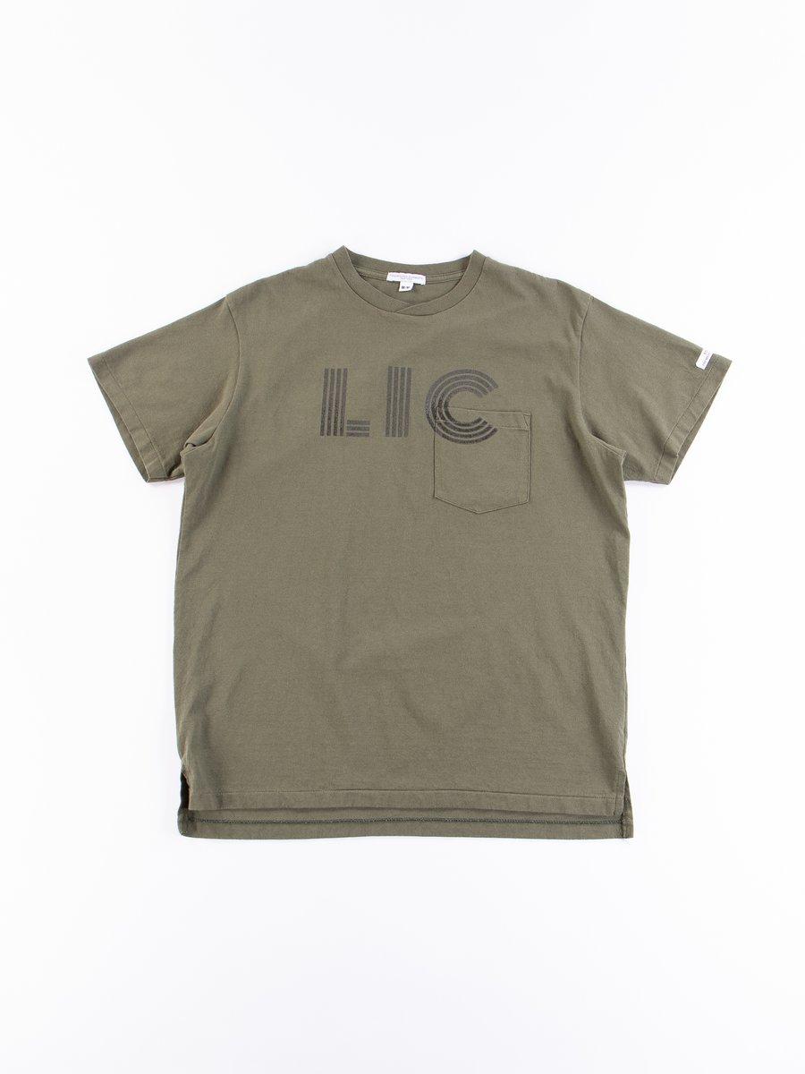 Olive LIC Printed T–Shirt
