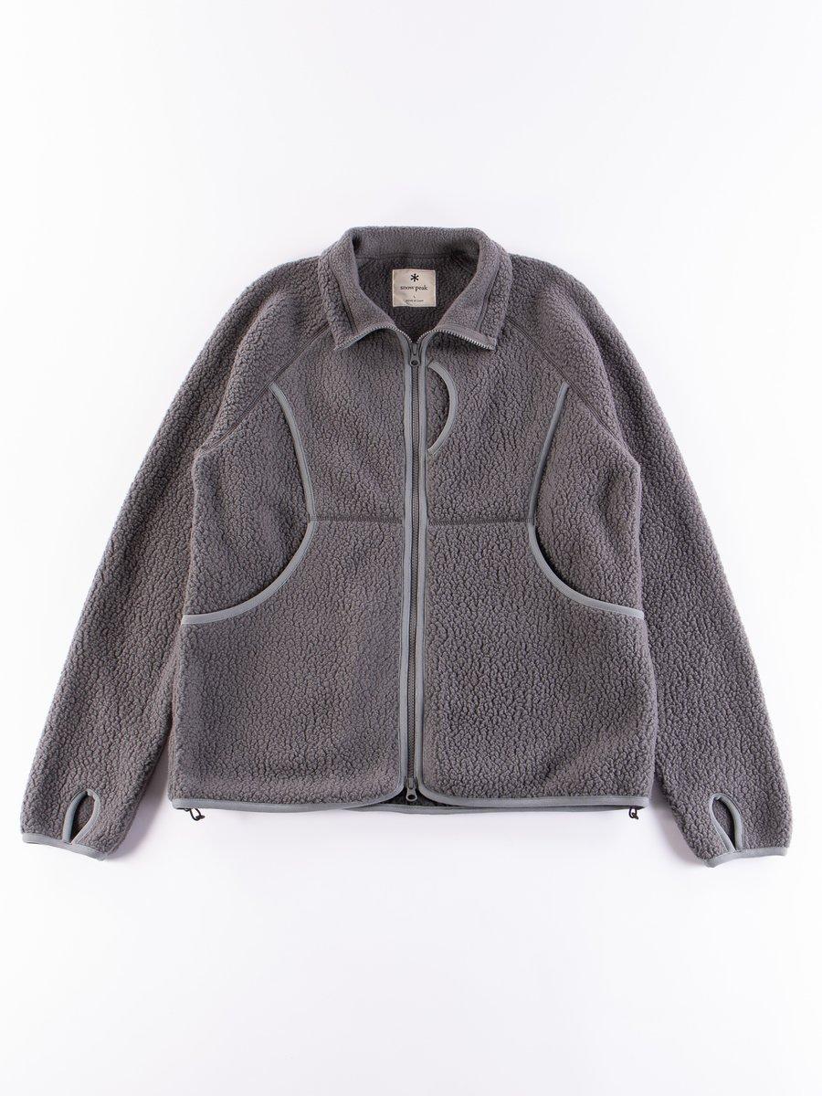 Grey Thermal Boa Fleece Jacket