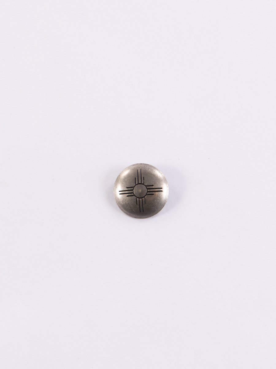 Nickel Silver Cross Concho Pin