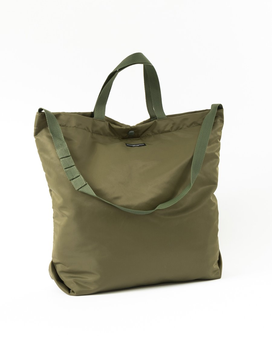 CARRY ALL TOTE OLIVE FLIGHT SATEEN NYLON