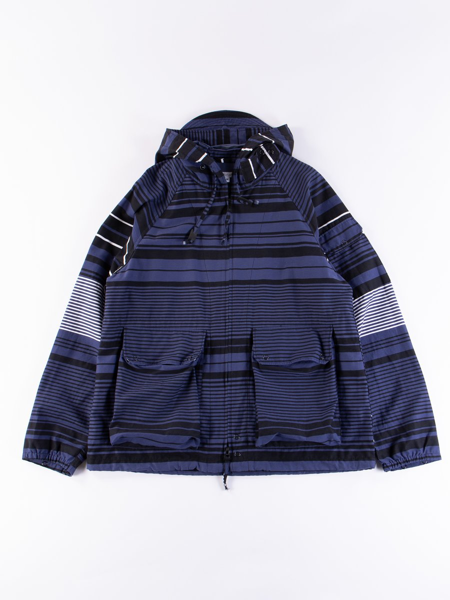 Navy Horizontal Stripe Activecloth Atlantic Parka