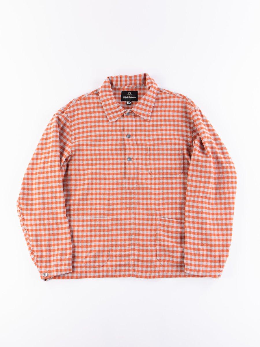 Orange Check Poh Deck Shirt
