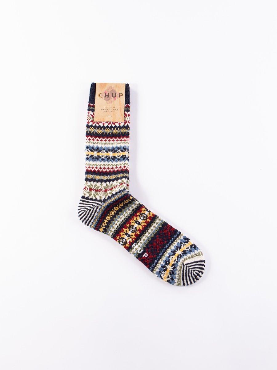 Navy Fair Snow Socks