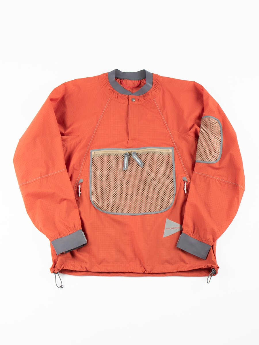 BREATHABLE RIPSTOP PULLOVER JACKET RED