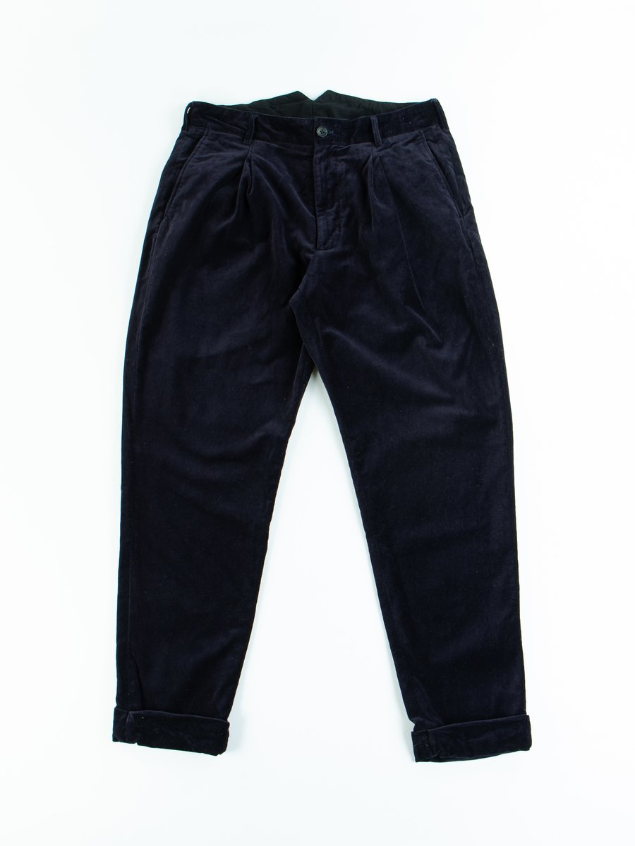 Dark Navy Cotton Velveteen WP Pant