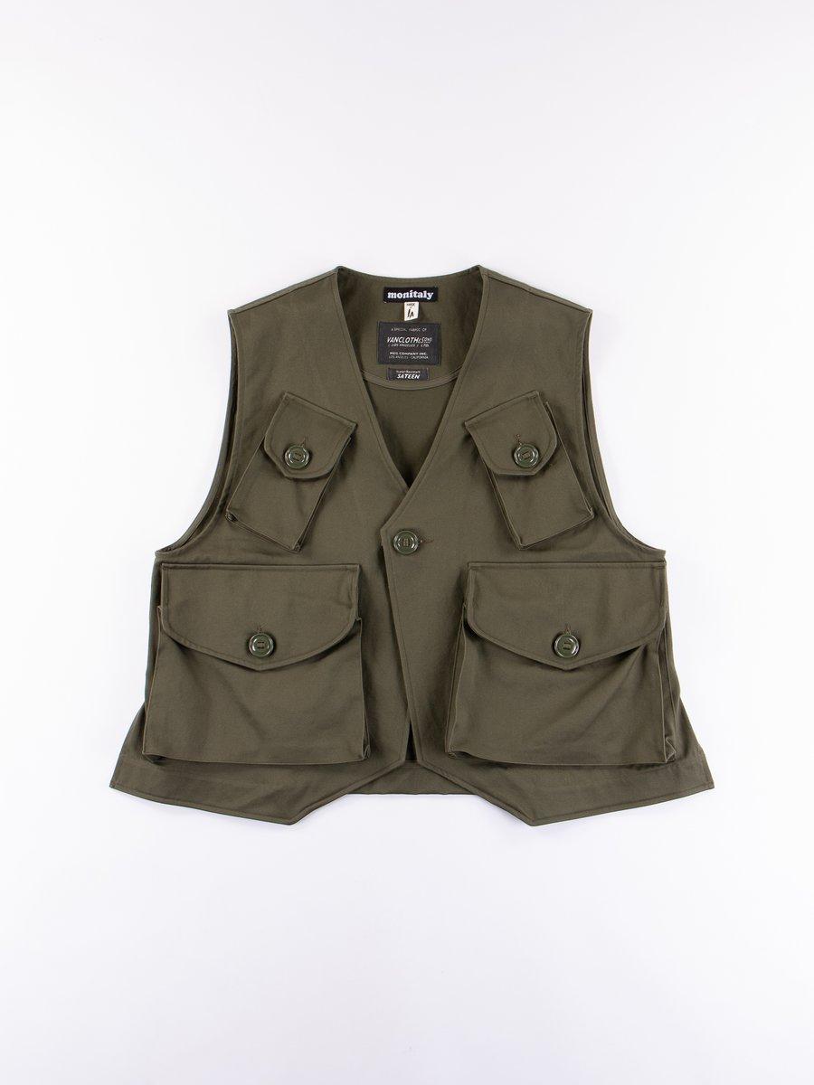 Olive Sateen Vancloth Type–C Military Vest