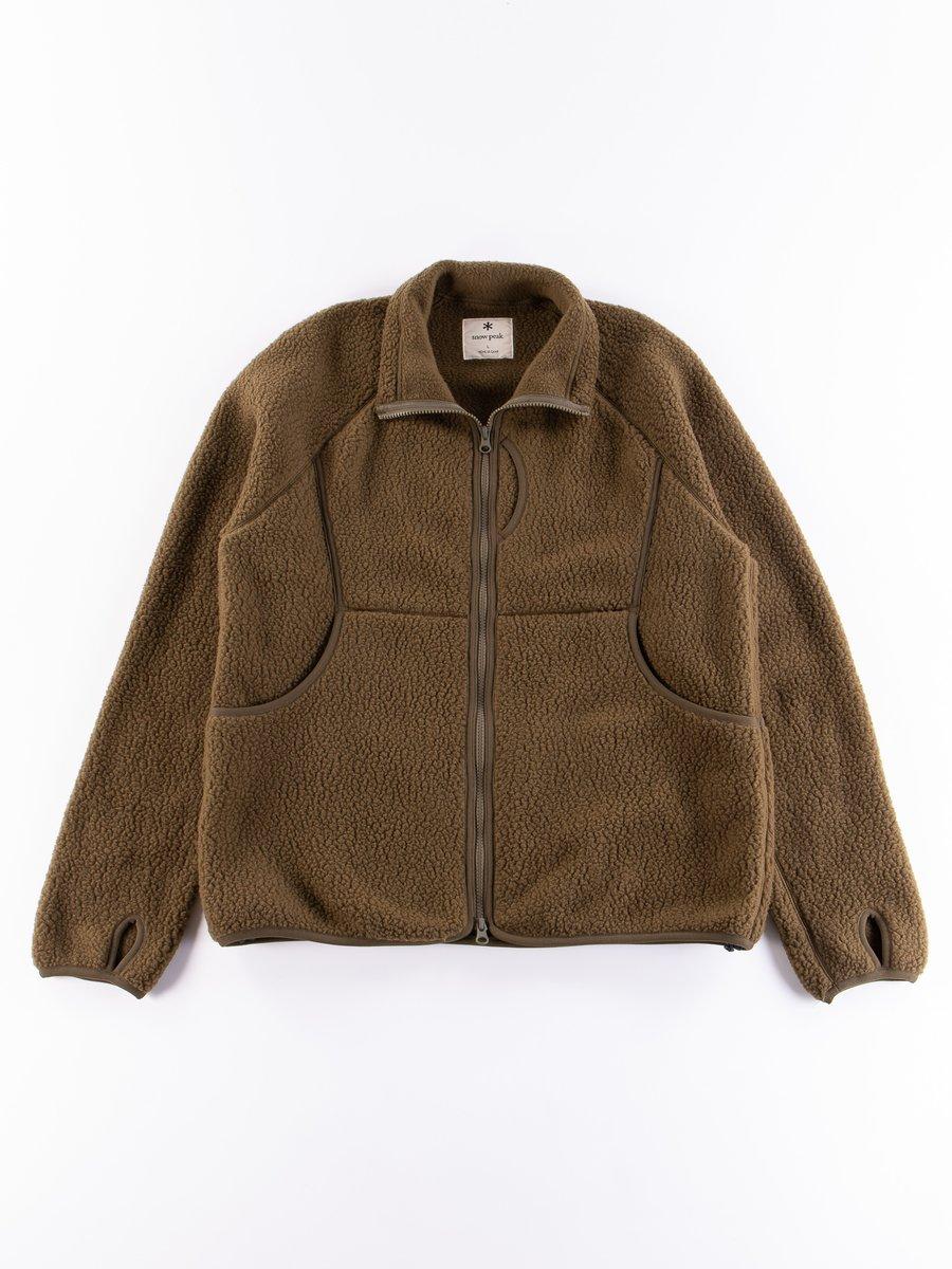 Olive Thermal Boa Fleece Jacket