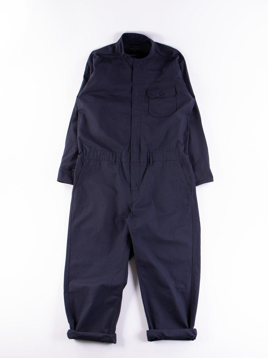 Dark Navy Cotton Ripstop Boiler Suit
