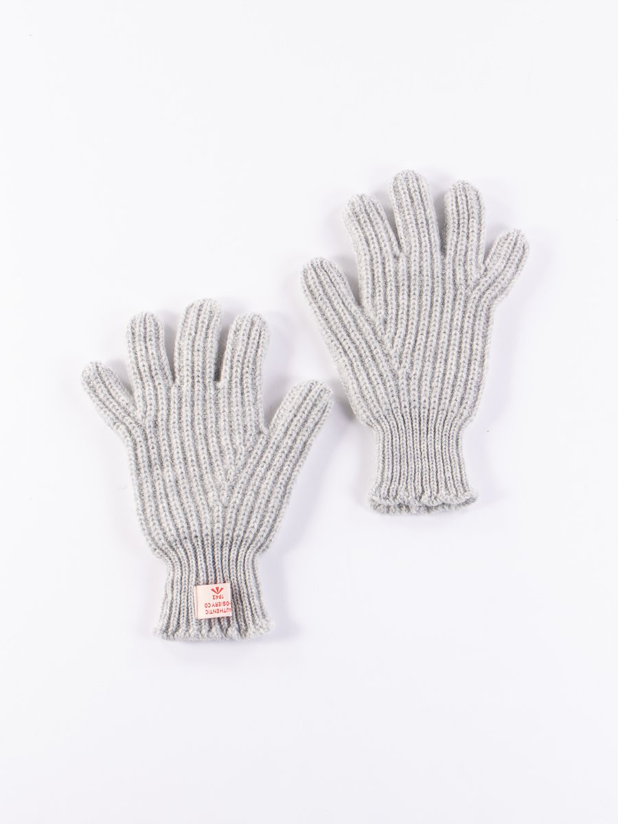 Grey Ribbed Goalie Gloves