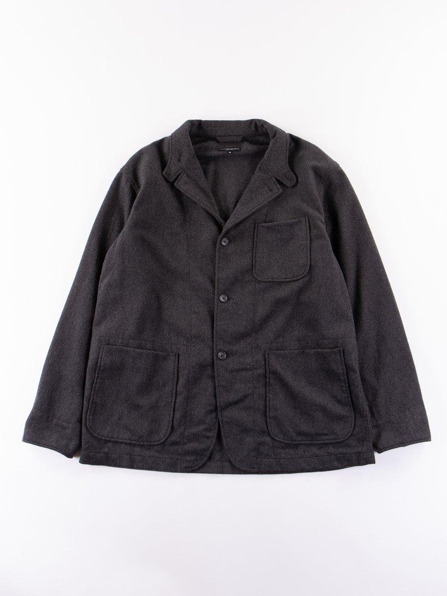 Grey Heather Wool Cotton Flannel Loiter Jacket