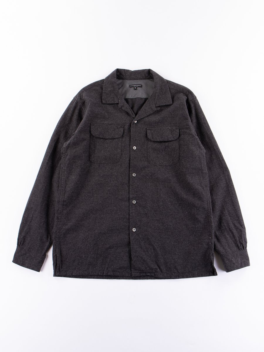 Charcoal Heather Cotton Flannel Classic Shirt