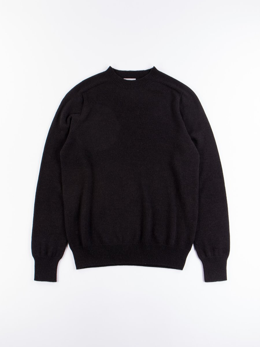 Cocoa Cashmere/Cotton Saddle Crew Neck Sweater