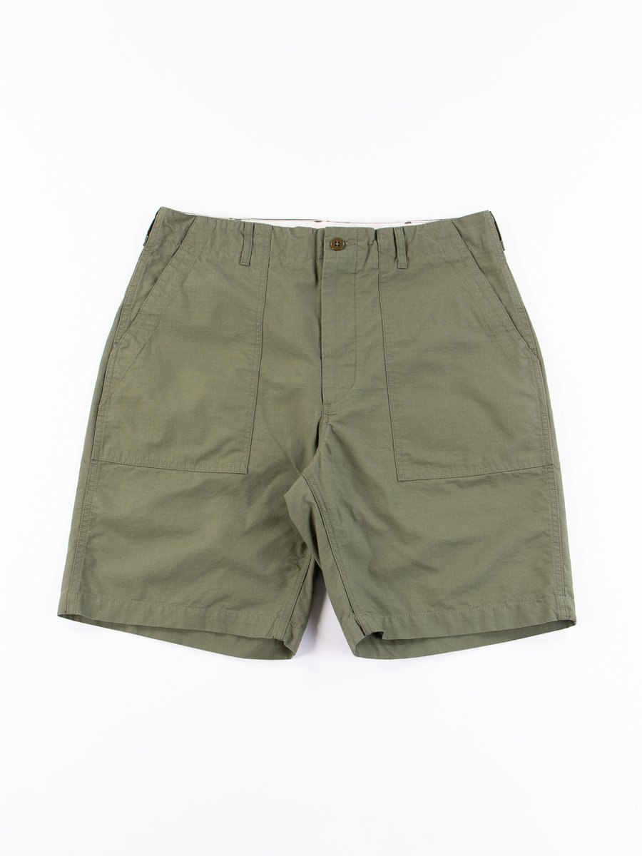 Olive Cotton Ripstop Fatigue Short