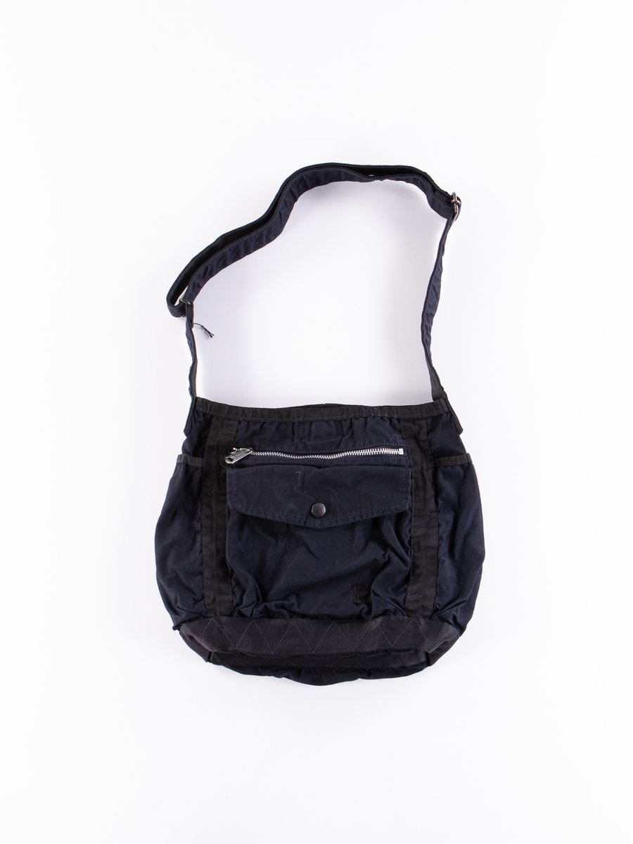 Navy Crag Shoulder Bag Small
