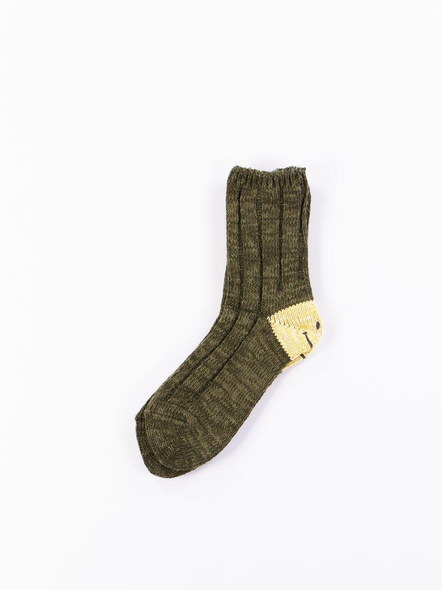 Khaki 56 Yarns MA–1 Smiley Heel Socks