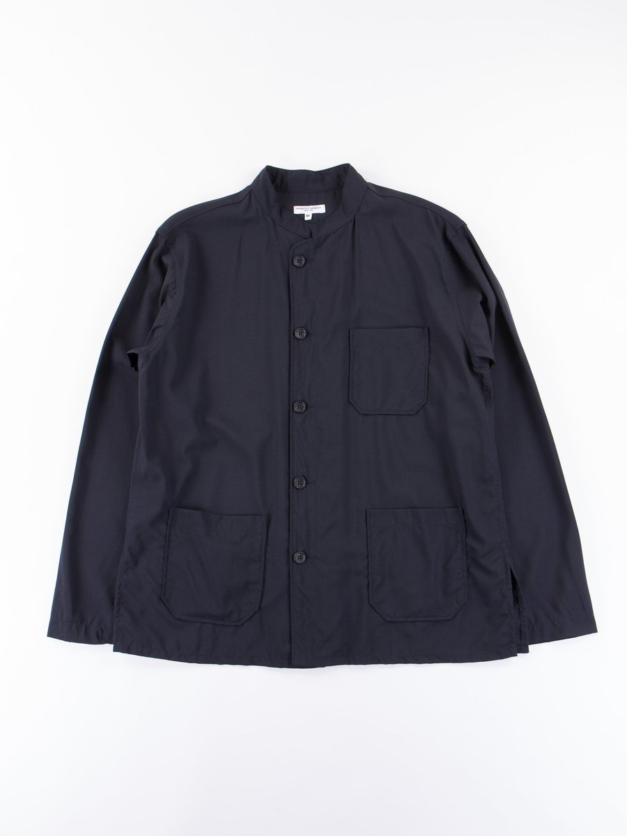 Dark Navy Tropical Wool Cordura Dayton Shirt