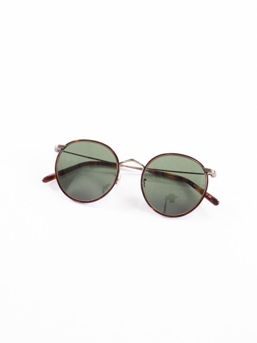 Antique Gold–Dark Mahogany/G–15 Casson Sunglasses