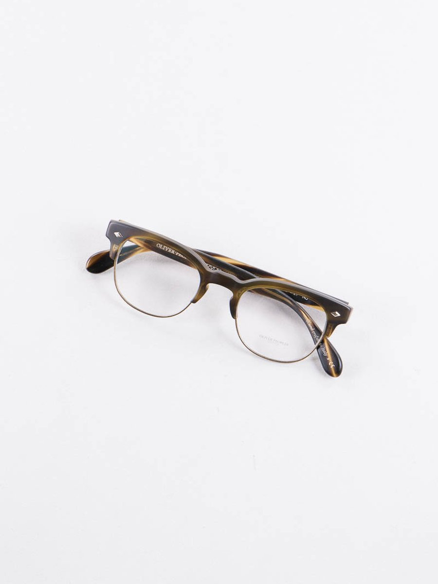Semi Matte Cocobolo/Antique Gold Hendon LA Optical Frame