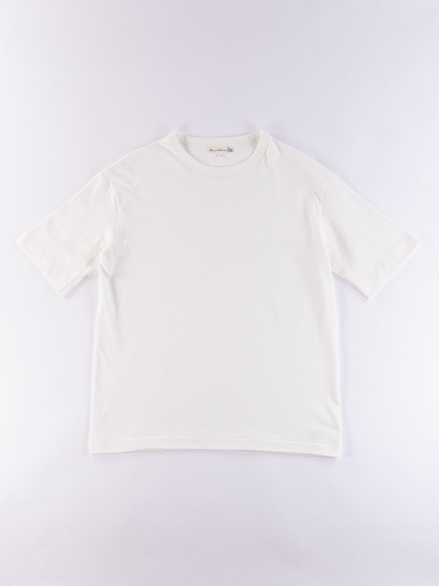 White 218OS Oversized Crew Neck Tee