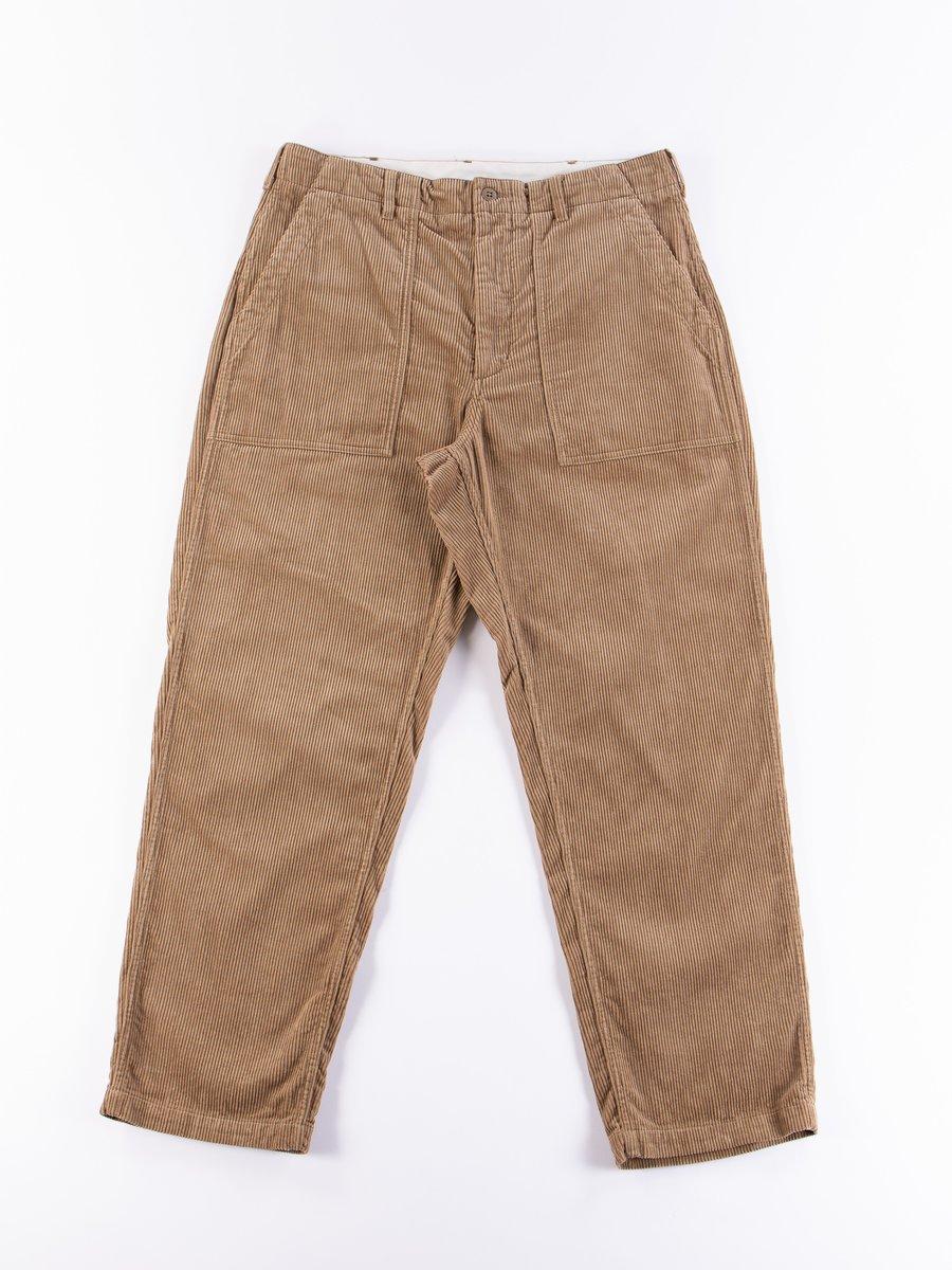 Khaki 8W Corduroy Fatigue Pant