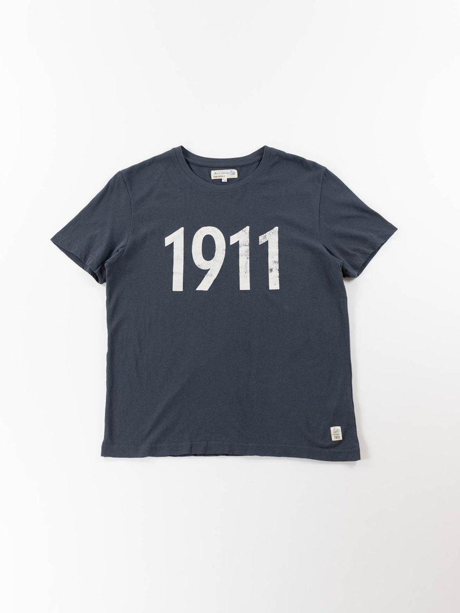 GOOD BASICS 1911 CREW NECK T–SHIRTDENIM BLUE