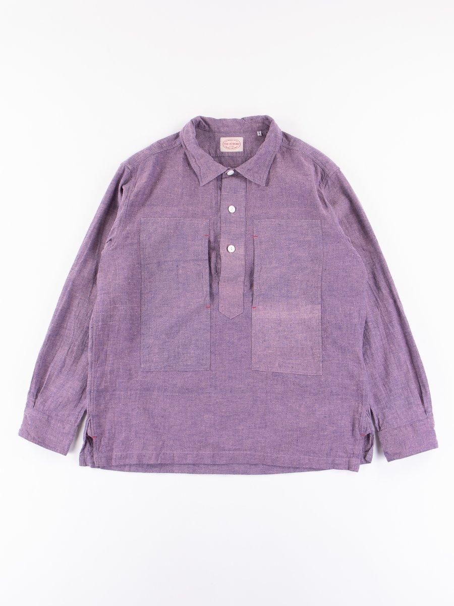 Grape Irish Linen Popover Shirt