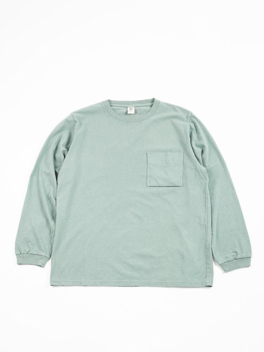 Long Sleeve Pocket T–SHIRT DUSK BLUE