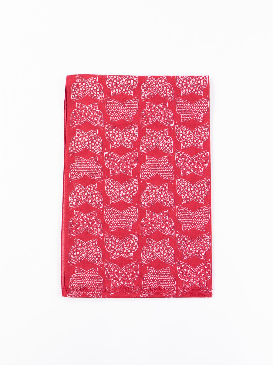 Red Cotton Gauze Stole