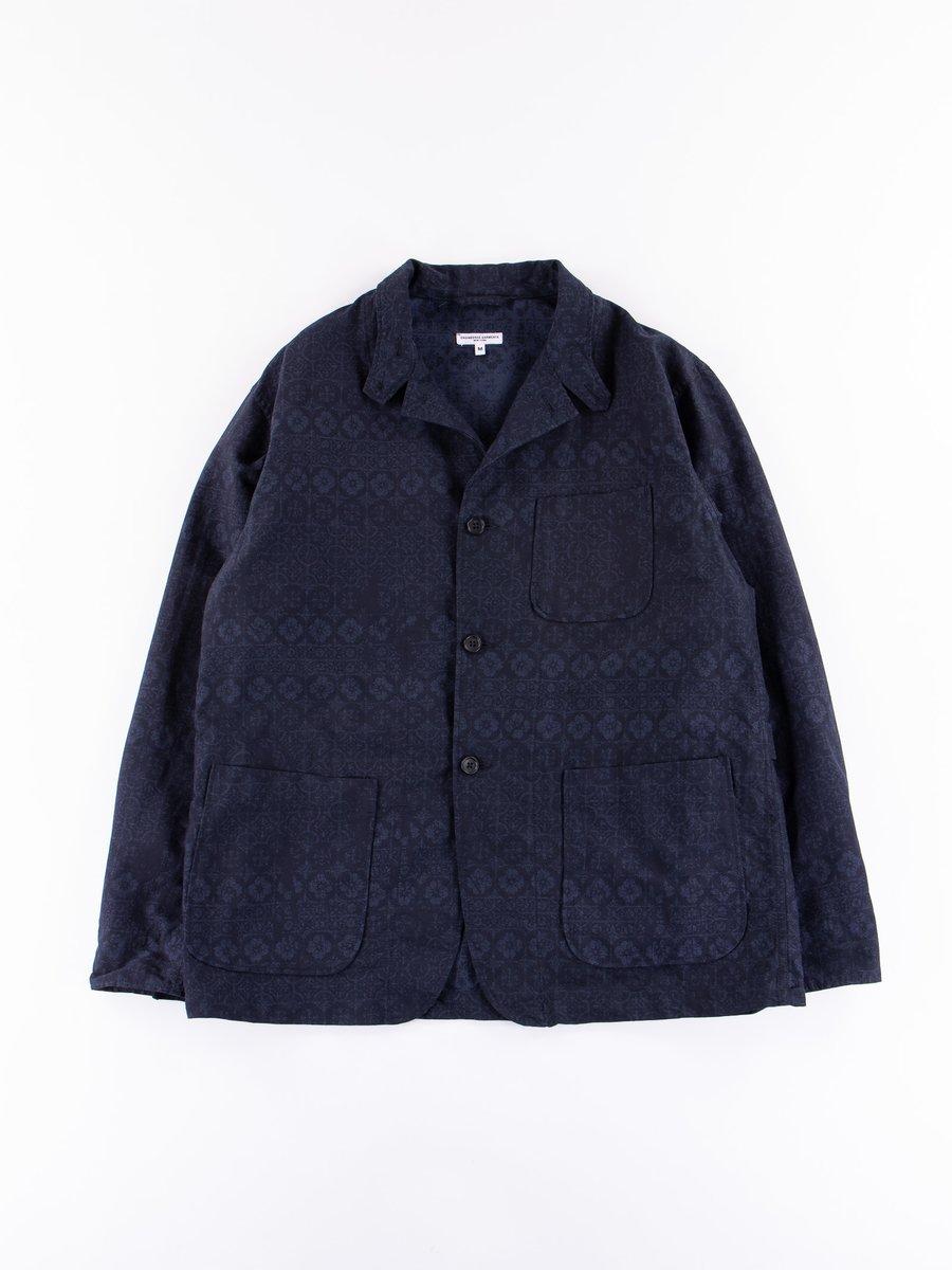 Dark Navy/ Black Floral Geo Jacquard Loiter Jacket