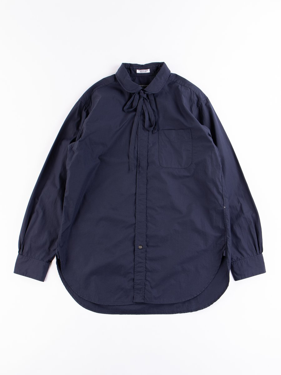 Navy 100's 2Ply Rounded Collar Shirt