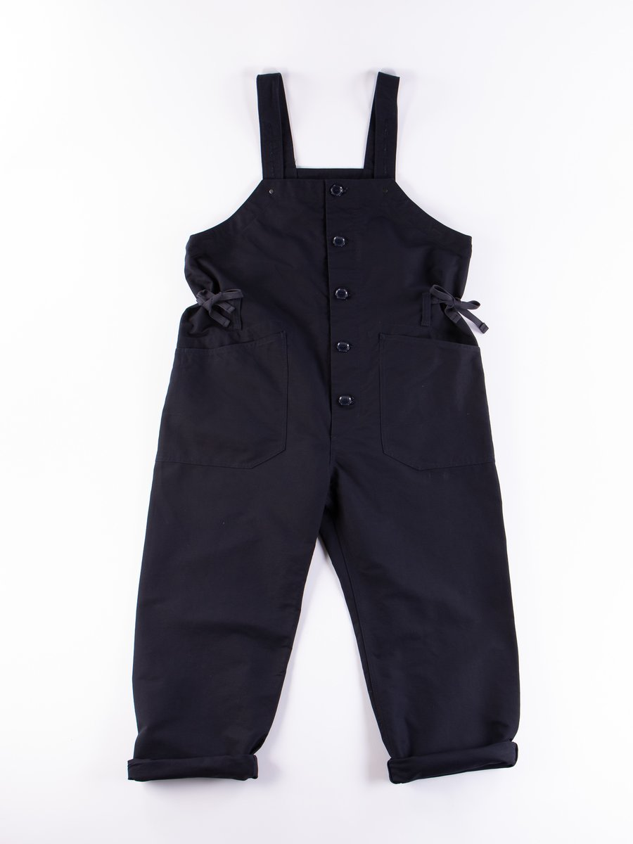Navy Cotton Double Cloth Waders