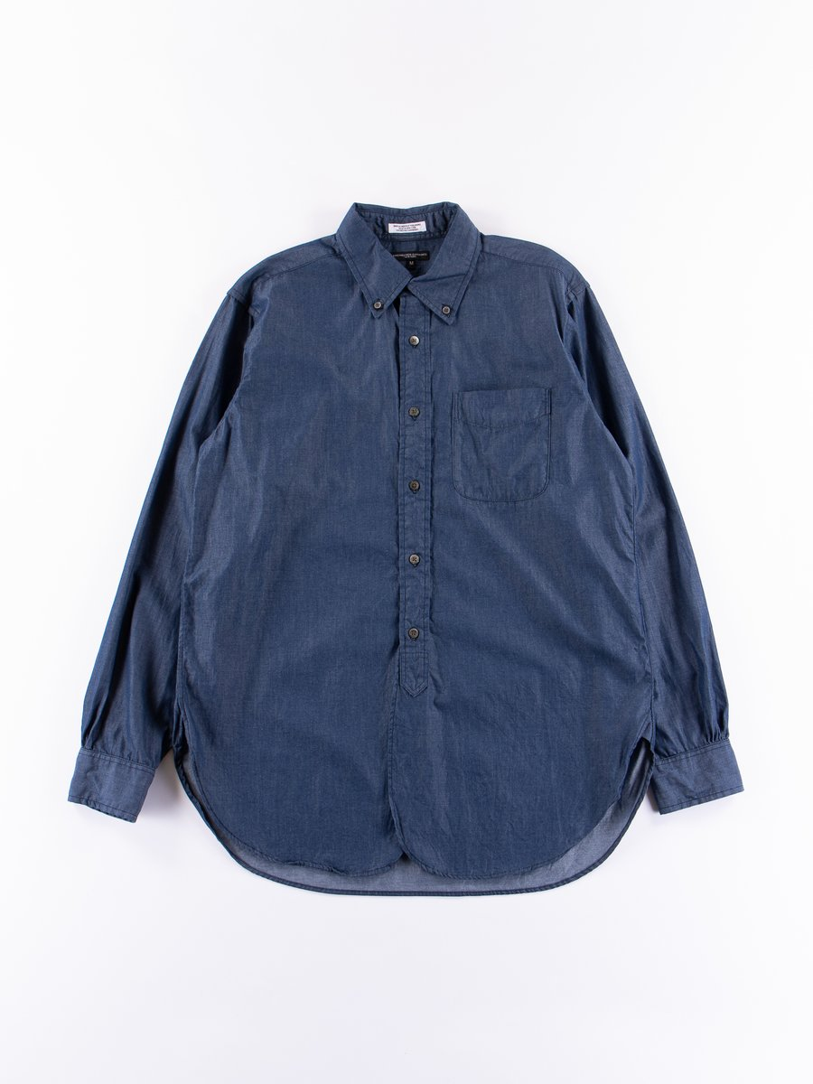 Navy Light Weight Denim 19th Century BD Shirt