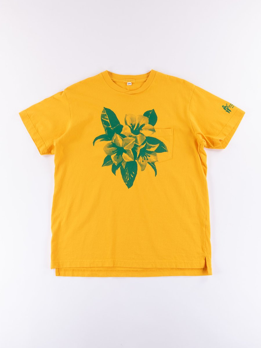 Gold Floral Printed T–Shirt