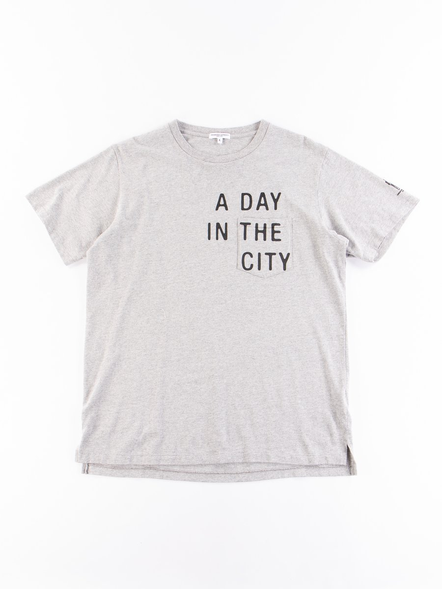 Grey A Day Printed Cross Crew Neck T–Shirt